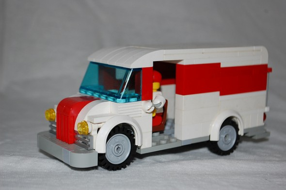 milk truck lego
