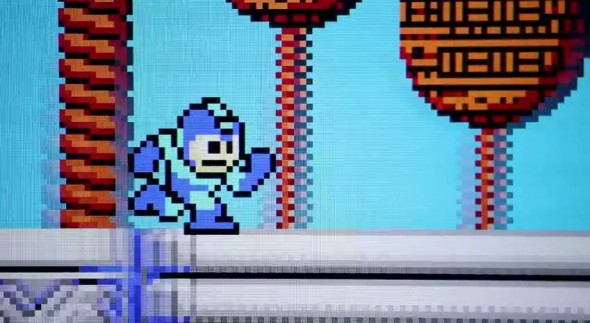 mega man running