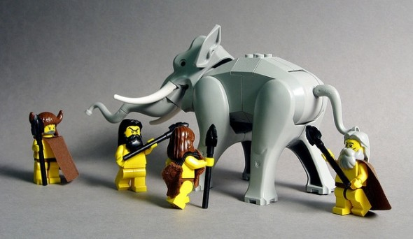 Cavemen Hunt Elephant
