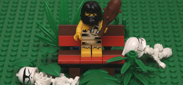 Paleo Caveman on Bench