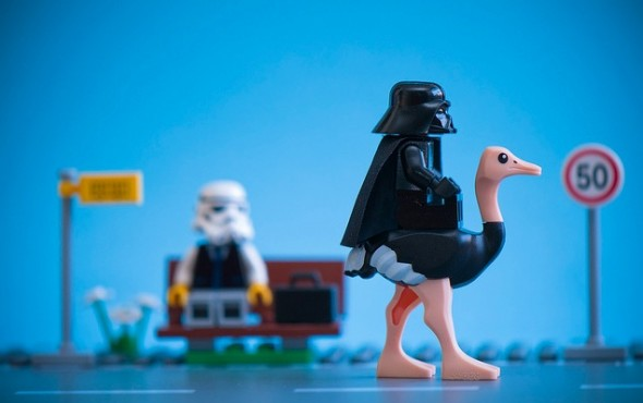 darth vader lego and ostrich