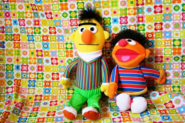 Bert and Ernie workout buddies