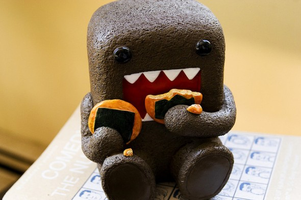 unhealthy snacks with domokun