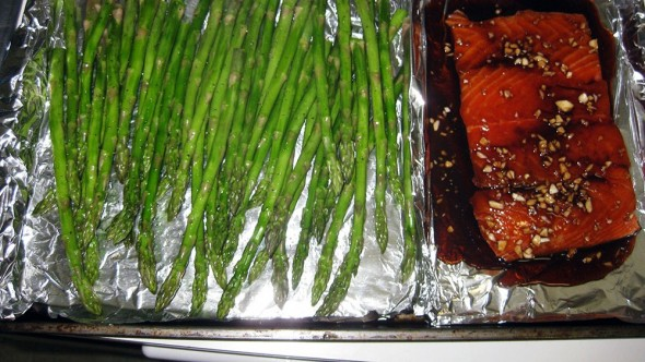 Honey Soy Sauce Salmon Asparagus Prepped