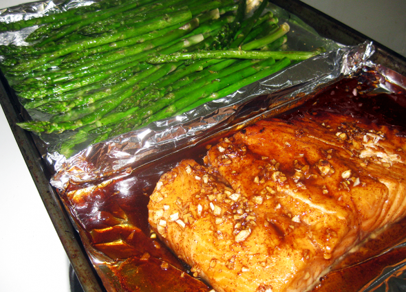 Honey Soy Sauce Salmon Finished