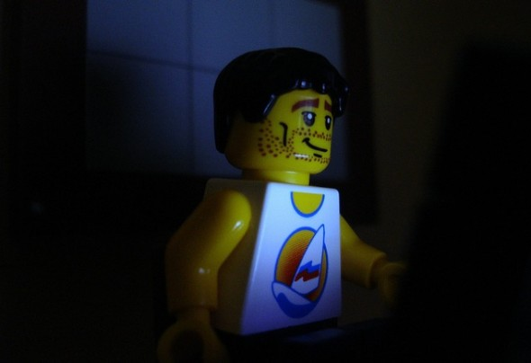 Lego Staying Up Late to Watch TV, wasting time and productivity
