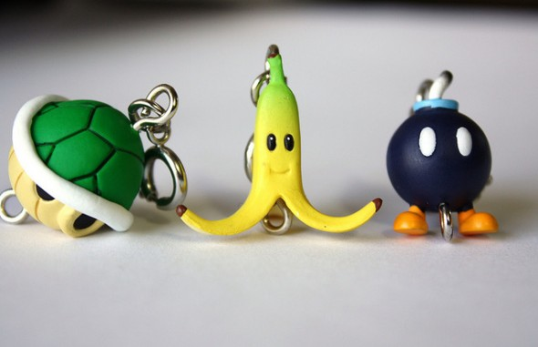 mario kart key chains