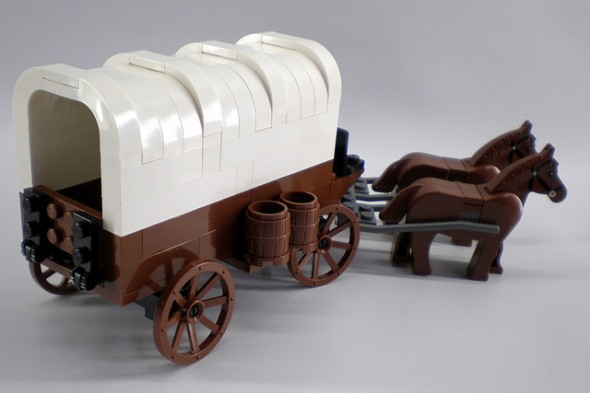 lego covered wagon
