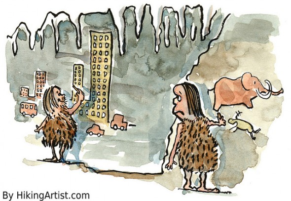 caveman wall painting